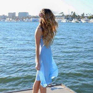 Dresses & Skirts - blue polka dot dress